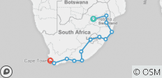 20 Day Kruger to Cape Town 2019-20 (Pretoria, Hazyview, Underbeg Area, Mountain Zebra National Park, Port Elizabeth, Storms River) (from Johannesburg to Cape Town) - 13 destinations