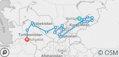 The Five Stans of the Silk Road - 18 destinations