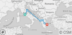From Rome to Athens - 8 destinations