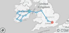 Great Tour of Ireland end London - 17 destinations