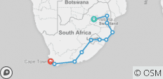 20 Day Kruger to Cape Town 2019-20 (Pretoria, Hazyview, Underbeg Area, Mountain Zebra National Park, Port Elizabeth, Storms River) - 11 destinations