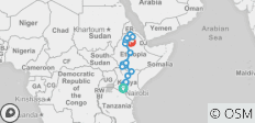 Northern Kenya to Ethiopian Highlands - 21 destinations