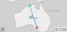 "7 Day Package ""Darwin to Ayers Rock (Uluru) plus continue to Adelaide\"" - 7 destinations"