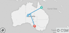 "7 Day Package ""Cairns to Ayers Rock (Uluru) plus continue to Adelaide\"" - 6 destinations"