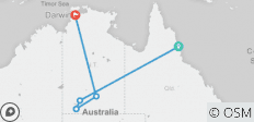 "7 Day Package ""Cairns to Ayers Rock (Uluru) plus continue to Darwin\"" - 6 destinations"