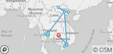 Vietnam, Cambodia & Thailand - 15 Days - 16 destinations
