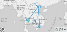 Vietnam, Cambodia & Thailand - 15 Days - 17 destinations