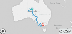 Down South & Outback (Ex. Alice Springs) 2019-20 - 11 destinations