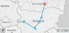 From Sofia to Bucharest - 8 destinations