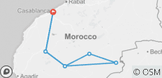 Private Grand South Tour of Morocco - 8 destinations