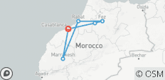 Morocco Imperial Cities Luxury Tour (in Riads) - 8 days - 6 destinations