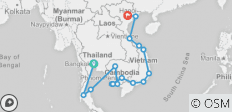3 Country Tour Pass - 10 Day Full Moon Experience, 12 Day Cambodia Explorer & 17 Day Vietnam Explorer  - 16 destinations