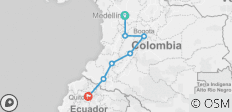 Medellin to Quito Adventure - 7 destinations