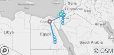 Ancient Wonders Israel, Jordan and Egypt tour - 17 destinations