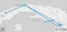 The Best of Cuba Xperience in 7 Days Havana-Viñales-Trinidad-Cienfuegos @ Casas Particulares - 12 destinations