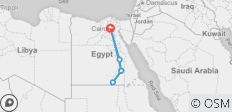 Nefertari (6 days) 2 nights Cairo + 3 nights cruise,(private). - 6 destinations
