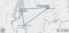 3 Day Rwanda Including Lake Kivu and Chimpanzee Trekking - 5 destinations