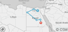 Cairo, Honeymoon Nile Cruise & Oasis Tour - 6 destinations