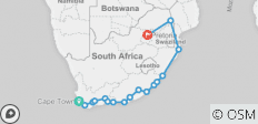 40 Day Odyssey – Cape Town, Garden Route, Wild Coast and Kruger National Park - 17 destinations