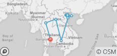 Glimpse Of Indochina 15 Days (Vietnam/ Laos/ Cambodia/ Thailand) - 8 destinations