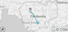 Cambodia Family Holiday from Phnom Penh to Siemreap, Angkor Wat - 4 destinations