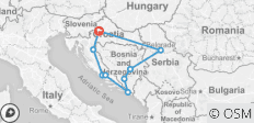 Best of Croatia, Bosnia and Serbia - 9 destinations