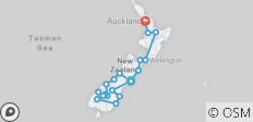 New Zealand Marvel (from Christchurch to Auckland) - 20 destinations