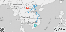 Vietnam Laos Tour to Hoi An, Halong, Hanoi, Luang Prabang, Vientiane - 10 destinations