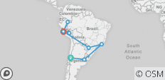 South American Journey 2019 23 Days (from Santiago to Lima) - 11 destinations