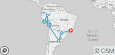 South America and Amazon in Depth with Amazon Cruise 2020 - 15 destinations