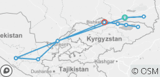 Silk Road Sights (Kazakhstan, Kyrgyzstan, Uzbekistan) - 12 destinations