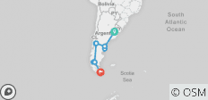 Buenos Aires to Ushuaia or Viceversa - 11 Days - 12 destinations