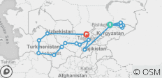 Central Asia Combined Silk Road Tour - 18 destinations