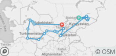 Central Asia Combined Silk Road Tour - 21 destinations