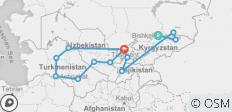 Central Asia Combined Silk Road Tour - 13 destinations