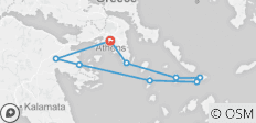 7 Day Historical Athens - Cyclades All Inclusive Boutique Cruise - 9 destinations