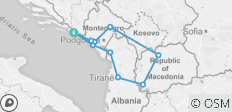 A108 BALKAN TOUR - 10 destinations