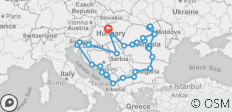 21 days Complete Tour of Balkans from Budapest through Transylvania - 36 destinations