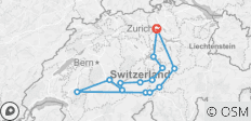 Switzerland\'s most beautiful Places | Swiss Alps Road Trip from Zurich - GPS Guided - 14 destinations