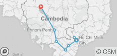 From South Vietnam to North Cambodia 8 days - 13 destinations