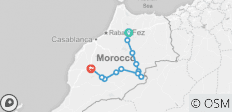 Sahara Desert Tour 3 Days 2 Nights from Fez to Marrakech - 12 destinations