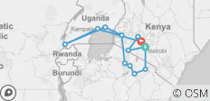 16 Days Kenya Tanzania Uganda Safari Adventures - 13 destinations