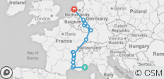 Rhine, Rhône and Moselle Arles to Amsterdam  (2019) - 18 destinations
