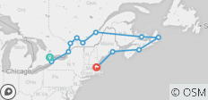 Eastern Canada and New England Cruise Toronto to Boston  (2019) - 12 destinations