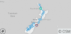 The Big Tiki (Auckland To Christchurch Summer) (from Auckland to Christchurch) - 23 destinations