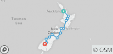 Kiwiana Panorama (including Taupo) (from Auckland to Queenstown) - 14 destinations