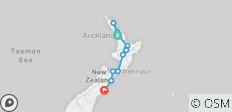 Northern Choice (Start Auckland, End Christchurch, Summer, 10 Days) - 12 destinations