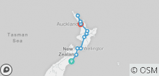 Northern Choice (Christchurch To Auckland Summer) (from Christchurch to Auckland) - 12 destinations