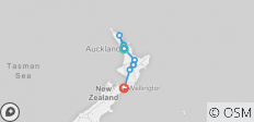 Northern Choice (Start Auckland, End Wellington, Winter, 10 Days) - 9 destinations