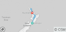 Northern Choice (Winter, Start Wellington, Ende Auckland, 10 Tage) - 8 Destinationen